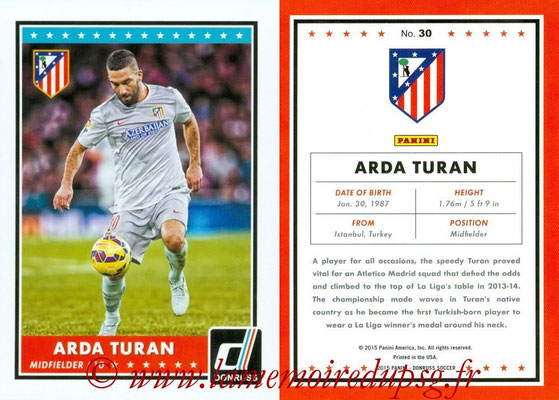 2015 - Panini Donruss Soccer - N° 030 - Arda TURAN (Atletico Madrid)