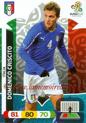 Panini Euro 2012 Cards Adrenalyn XL - N° 119 - Domenico CRISCITO (Italie)