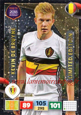 2018 - Panini Road to FIFA World Cup Russia Adrenalyn XL - N° LE-KDB - Kevin DE BRUYNE (Belgique) (Limited Edition)
