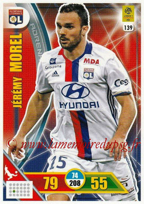 2017-18 - Panini Adrenalyn XL Ligue 1 - N° 139 - Jérémy MOREL (Lyon)