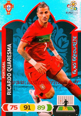 Panini Euro 2012 Cards Adrenalyn XL - N° 266 - Ricardo QUARESMA (Portugal) (Fans' Favourite)