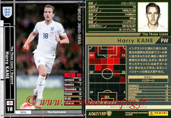 2015-16 - Panini WCCF - N° A067 - Harry KANE (Angleterre)