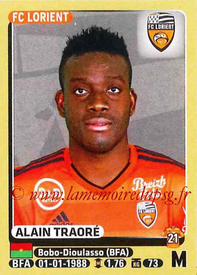 2015-16 - Panini Ligue 1 Stickers - N° 188 - Alain TRAORE (FC Lorient)