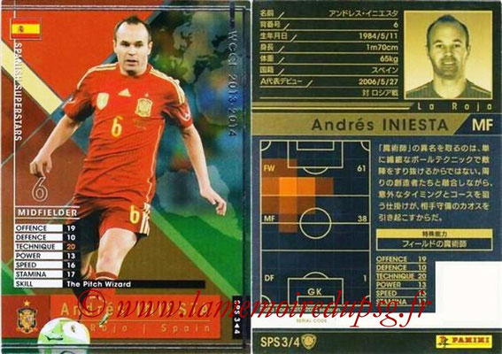 2013-14 - WCCF - N° SPS3 - Andrés INIESTA (Espagne) (Spanish Superstars)