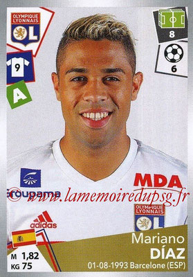 2017-18 - Panini Ligue 1 Stickers - N° 199 - Mariano DIAZ (Lyon)