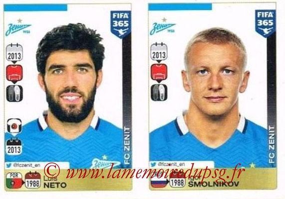 2015-16 - Panini FIFA 365 Stickers - N° 736-737 - Luís NETO + Igor SMOLNIKOV (FC Zenit)