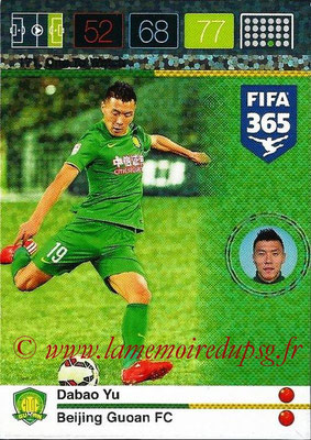 2015-16 - Panini Adrenalyn XL FIFA 365 - N° 171 - Dabao YU (Beijing Guoan FC) (One to Watch)