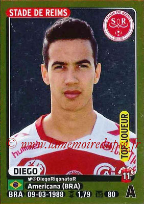 2015-16 - Panini Ligue 1 Stickers - N° 367 - DIEGO (Stade de Reims) (Top joueur)