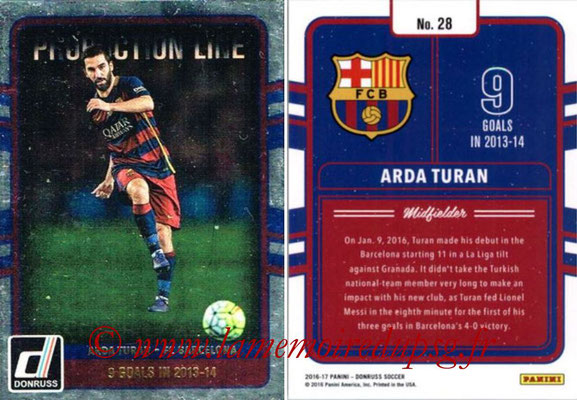 2016 - Panini Donruss Cards - N° PL28 - Arda TURAN (FC Barcelone) (Production Line)
