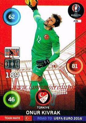 Panini Road to Euro 2016 Cards - N° 235 - Onur KIVRAK (Turquie)