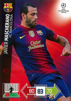 2012-13 - Adrenalyn XL champions League N° 029 - Javier MASCHERANO (FC Barcelone