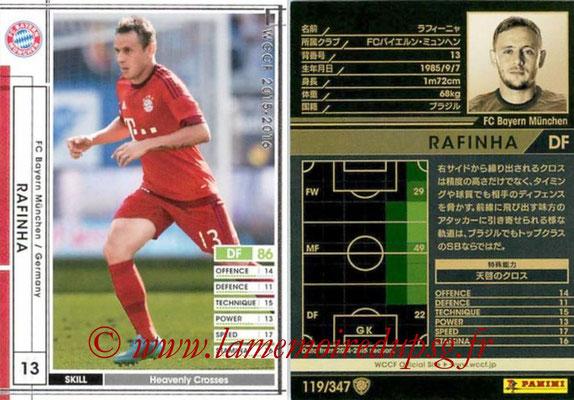2015-16 - Panini WCCF - N° 119 - RAFINHA (FC Bayern Munich)