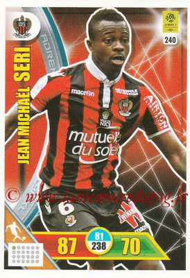 2017-18 - Panini Adrenalyn XL Ligue 1 - N° 240 - Jean Michael SERI (Nice)
