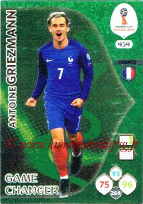 2018 - Panini FIFA World Cup Russia Adrenalyn XL - N° 454 - Antoine GRIEZMANN (France) (Game Changer)