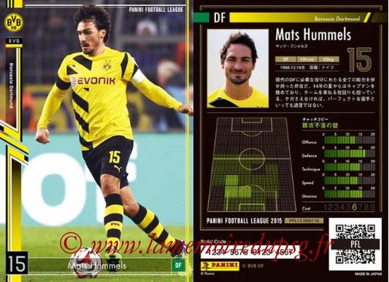 Panini Football League 2015 - PFL13 - N° 069 - Mats HUMMELS (Borussia Dortmund)