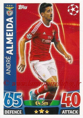 2015-16 - Topps UEFA Champions League Match Attax - N° 186 - André ALMEIDA (SL Benfica)