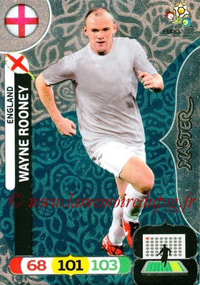 Panini Euro 2012 Cards Adrenalyn XL - N° 282 - Wayne ROONEY (Angleterre) (Master)