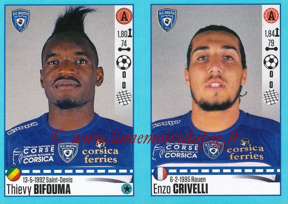 2016-17 - Panini Ligue 1 Stickers - N° 082 + 083 - Thievy BIFOUMA + Enzo CRIVELLI (Bastia)