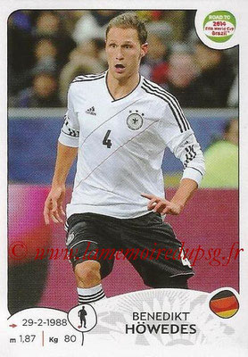 2014 - Panini Road to FIFA World Cup Brazil Stickers - N° 043 - Benedikt HOWEDES (Allemagne)