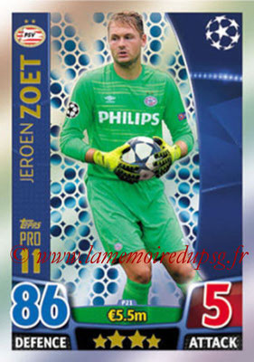 2015-16 - Topps UEFA Champions League Match Attax - N° P21 - Jeroen ZOET (PSV Eindhoven) (Pro 11)