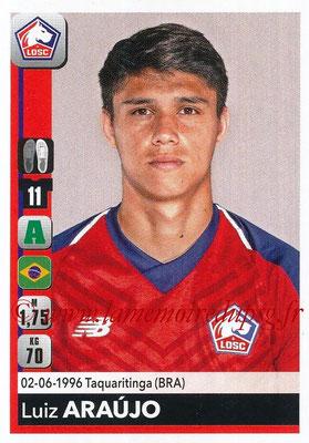 2018-19 - Panini Ligue 1 Stickers - N° 166 - Luiz ARAUJO (Lille)
