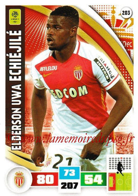 2016-17 - Panini Adrenalyn XL Ligue 1 - N° 203 - Elderson Uwa ECHIEJILE (Monaco)