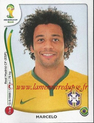 2014 - Panini FIFA World Cup Brazil Stickers - N° 038 - MARCELO (Brésil)