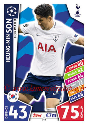 2017-18 - Topps UEFA Champions League Match Attax - N° 143 - Heung-Min SON (Tottenham Hotspur)