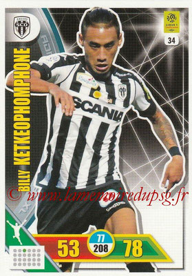 2017-18 - Panini Adrenalyn XL Ligue 1 - N° 034 - Billy KETKEOPHOMPHONE (Angers)