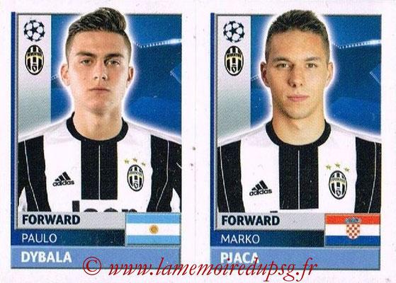 2016-17 - Topps UEFA Champions League Stickers - N° JUV 16-17 - Marko PJACA + Paulo DYBALA (Juventus FC)