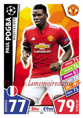 2017-18 - Topps UEFA Champions League Match Attax - N° 156 - Paul POGBA (Manchester United)