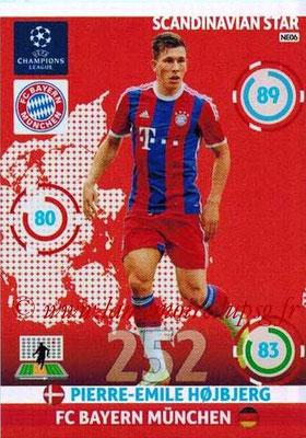2014-15 - Adrenalyn XL champions League N° NE06 - Pierre-Emile HOJBJJERG (Bayern Munich) (Scandinavian Star)