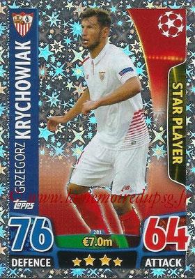 2015-16 - Topps UEFA Champions League Match Attax - N° 281 - Grzegorz KRYCHOWIAK (FC Seville) (Star Player)