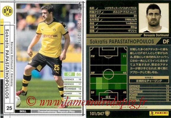 2015-16 - Panini WCCF - N° 101 - Sokratis PAPASTATHOPOULOS (Borussia Dortmund)