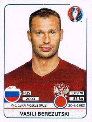 Panini Euro 2016 Stickers - N° 165 - Vasili BEREZUTSKI (Russie)
