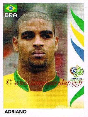 2006 - Panini FIFA World Cup Germany Stickers - N° 394 - ADRIANO (Brésil)