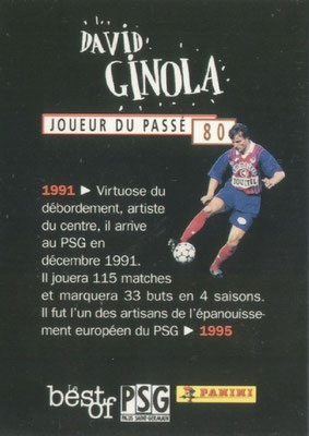 N° 080 - David GINOLA (Verso)