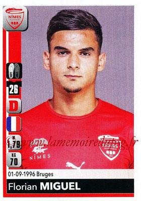 2018-19 - Panini Ligue 1 Stickers - N° 332 - Florian MIGUEL (Nîmes)