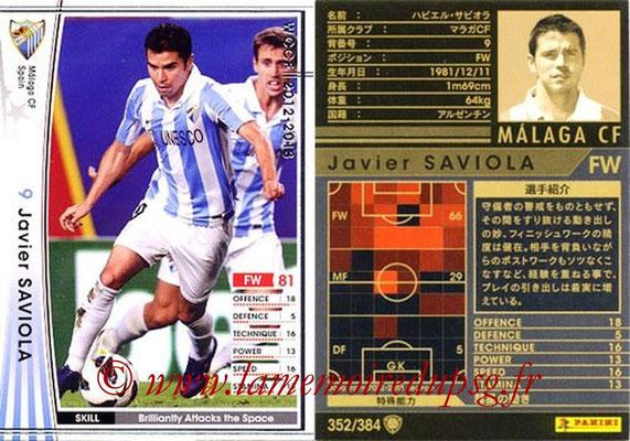 2012-13 - WCCF - N° 352 - Javier SAVIOLA (Malaga CF)