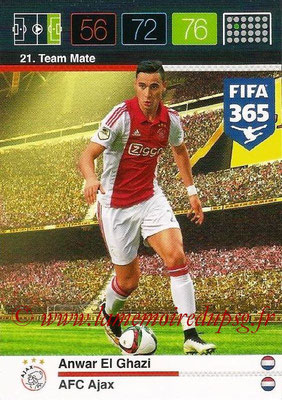 2015-16 - Panini Adrenalyn XL FIFA 365 - N° 021 - Anwar EL GHAZI (AFC Ajax) (Team Mate)