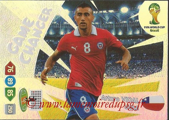 2014 - Panini FIFA World Cup Brazil Adrenalyn XL - N° 393 - Arturo VIDAL (Chili) (Game Changer)