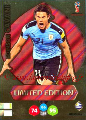 2018 - Panini FIFA World Cup Russia Adrenalyn XL - N° LE-EC - Edinson CAVANI (Uruguay) (Limited Edition)