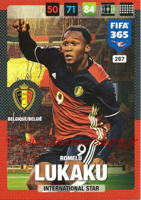 2016-17 - Panini Adrenalyn XL FIFA 365 - N° 287 - Romelu LUKAKU (Belgique) (International Star)