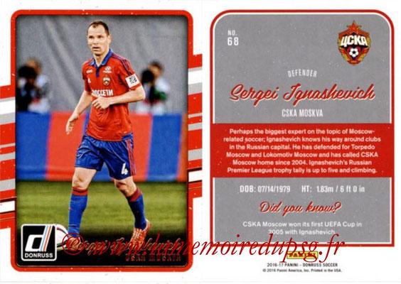 2016 - Panini Donruss Cards - N° 068 - Sergei IGNASHEVICK (CSKA Moscou)