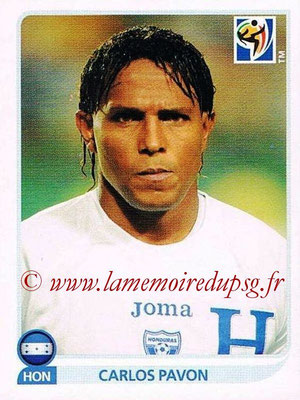 2010 - Panini FIFA World Cup South Africa Stickers - N° 616 - Carlos PAVON (Honduras)