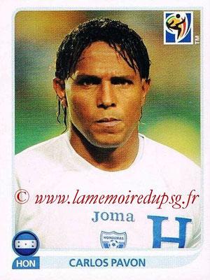 2010 - Panini FIFA World Cup South Africa Stickers - N° 616 - Carlos PAVON (Honduras)