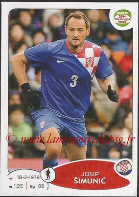 2014 - Panini Road to FIFA World Cup Brazil Stickers - N° 288 - Josip SIMUNIC (Croatie)