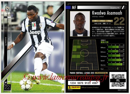 Panini Football League 2013 - PFL04 - N° 014 - Kwadwo ASAMOAH (Juventus FC)