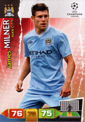2011-12 - Panini Champions League Cards - N° 134 - James MILNER (Manchester City FC)