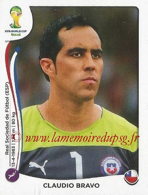 2014 - Panini FIFA World Cup Brazil Stickers - N° 148 - Claudio BRAVO (Chili)